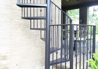 MSW Ornamental Iron Spiral Stairs